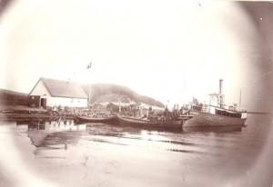 Selso Mollekrog med skib